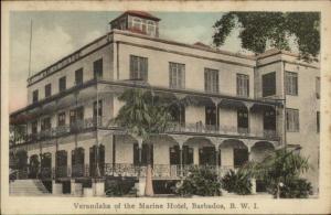 Barbados Marine Hotel c1915 Postcard