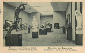 Exhibitions of Sculpture and Paintings Czech R. Brno 1928 postcard