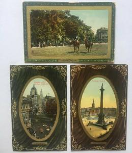 UK London Set Of 3 Trafalgar Square Ludgate Hill St Pauls Cathedral  LOT 01.56