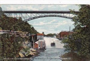 New York Rochester Lower Fall Of The Genesee River Showing Driving Park Avenu...