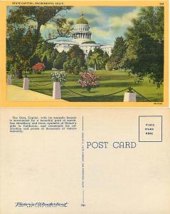 State Capitol in Sacramento, California, CA, Linen