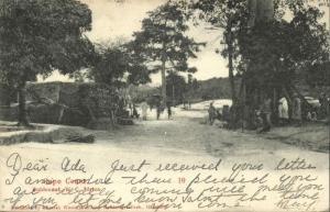 ghana, Gold Coast, CAPE COAST, Street Scene Native Houses (1909) Postcard