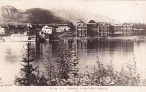 RP: ATLIN  , B.C. , Canada , 1910s ; Looking From First Island