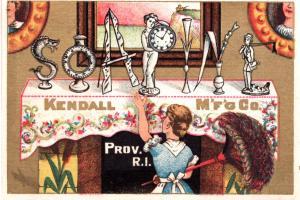 VICTORIAN TRADE CARD,  SOAPINE, CHARLOTTE PERKINS GILMAN.