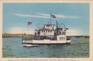 A Goming Ferry, between United States and Canada, Sault Ste. Marie, Ontario, ...