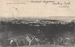South Africa Durban from the Berea 1907 postcard