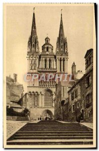 Old Postcard Angers Cathedral and Montee St Maurice