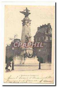 Paris Postcard Old Place de la Republique Gambetta Monument
