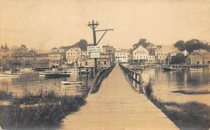 West Boothbay Harbor ME Wooden Foot Bridge Dump No Rubbish  RPPC