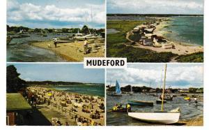 Post Card Dorset MUDEFORD 4 views PLC2667