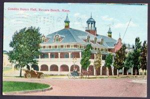Massachusetts REVERE BEACH Condits Dance Hall - Vintage DB - pm1912