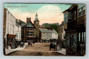 Mallow, UK-United Kingdom, Clock House, Vintage c1911 Postcard