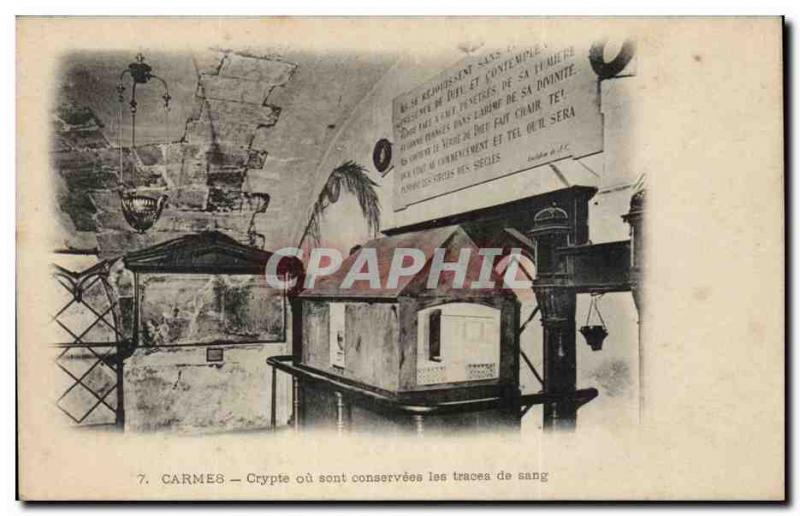 CPA Carmelite friars Crypt or are conservees the traces of b