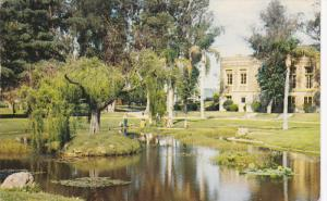 MONTEBELLO CITY PARK, Whittier Blvd., City of Flowers, California, PU-1957