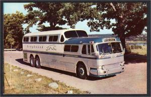 Advertising Postcard for Greyhound Bus Scenicruiser New York Express 1950s-1960s
