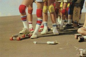 1970s Sports Socks Vintage Fashion Parade Ankle Protection Postcard