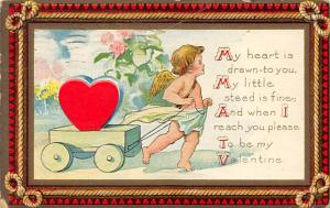 Damaged Valentines Day 1913 postal marking on front