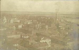 ukraine russia, KIEV KYIV, View of Podil with Factory (1910s) RPPC Postcard