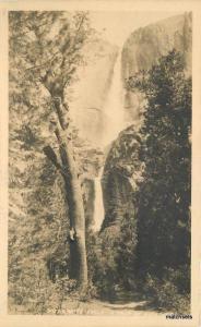 C-1910 Yosemite Falls 2000 feet California postcard 10060