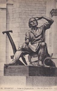 DOMREMY, Vosges, France, 1900-1910's; Statue De Juques D'Arc, Pere De Jeanne ...