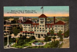FL Windsor Hotel Hemming City Park Jacksonville Florida Postcard Vintage