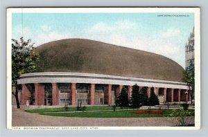 Salt Lake City UT-Utah, Mormon Tabernacle, Dome, Grounds, Vintage Postcard