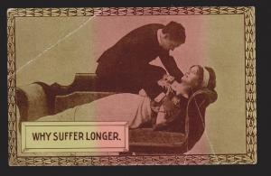 Romantic Couple - Why Suffer Longer - Unused - Large Creases