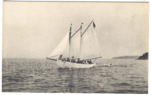 Harborside ME Schooner Grayling, Bay Crest Ship Postcard