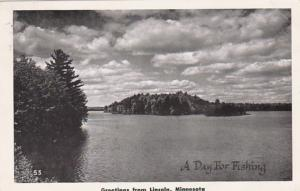 Minnesota Greetings From Lincoln Lake Scene 1951