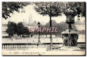 Old Postcard Niort La Breche View From Garden
