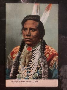 Mint PPC Picture Postcard Native American Indian Curley General Custer Scout
