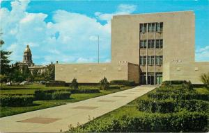 Cheyenne Wyoming~State Office Building~Central Avenue~1955 Postcard