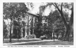 Boulder Colorado University Old Main First Building on Campus Postcard J51313