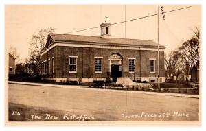 Maine  Dover-Foxcroft ,  The New Post office  , RPC