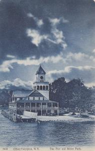 CHAUTAUQUA, New York, 1900-1910's; Pier And Miller Park