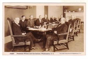 Real Photo, President Wilson and His Cabinet, Washington DC, Underwood and Un...