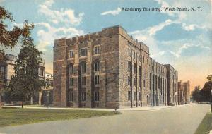 West Point New York Academt Building Street View Antique Postcard K16010