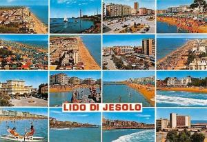 Italy Lido di Jesolo multiviews Plage Hotel beach Sea Waves Boats Panorama