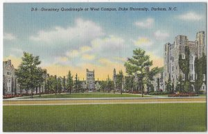 Dormitory Quadrangle West Campus Duke University Durham North Carolina