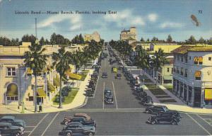 Florida Miami Beach Lincoln Road Looking East 1939