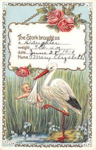 Post Card Old Vintage Antique Baby Birth