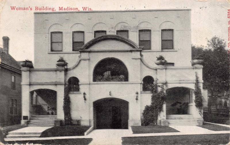 MADISON WISCONSIN~WOMAN'S BUILDING-PHILANTHROPIC CLUB FOR WOMEN POSTCARD 1910s