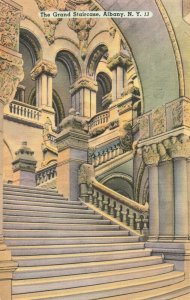 Postcard Grand Staircase Albany New York