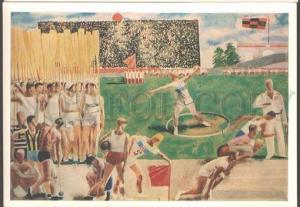 099151 Stadium AVANT-GARDE by SAMOKHVALOV old Russian Card