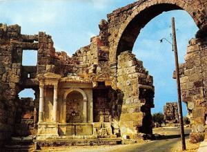 Turkey Cennet Sehir Antalya Side Vespasianus Victory Fountain and Its Gate