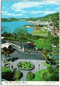 The Town of Charlotte Amalie St. Thomas  US VIrgin Islands 1970s