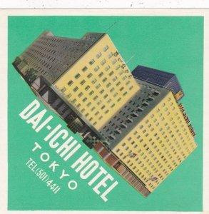 Japan Tokyo Dai-Ichi Hotel Vintage Luggage Label sk3934