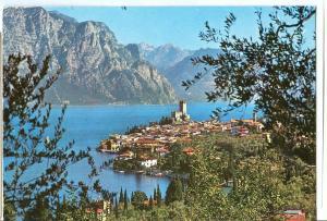 Italy, Malcesine, Lago di Garda, Panorama, 1994 used Postcard