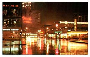 1950s/60s Greyhound Bus Terminal and American Airlines, Detroit, MI Postcard *4X
