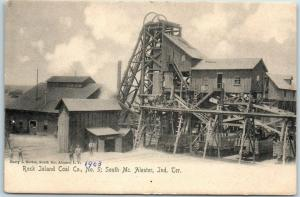 McAlester, INDIAN TERRITORY Oklahoma Postcard Rock Island Coal Co, No. 5 c1903